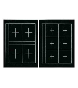 Feutrine d'appui pour calligraphie avec guides - Kuretake KA23101 (Double face, 6 + 4 carrés)