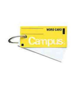 Mini cartes de vocabulaire - Campus Kokuyo (85 feuilles - Couverture jaune)