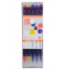 Akashiya Watercolor Brush Pen Sai - Set de 5 couleurs (Automne)