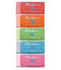 Seed Radar Light 100 - Lot de 5 gommes couleurs assorties (made in Japan)