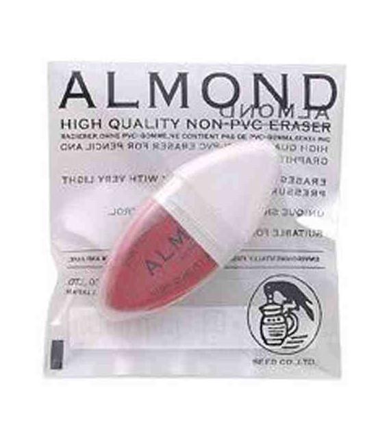 Seed Eraser Almond - Gomme Qualité Supérieure pour crayon (Sans PVC) - Importation du Japon