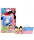 Iwako Puzzle Eraser - Mt. Fuji and Maiko - (Mini-gommes kawaii) Made in Japan