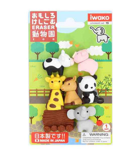 Iwako Puzzle Eraser - Zoo - (Mini-gommes kawaii) Made in Japan