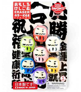 Iwako Puzzle Eraser - Daruma - (Mini-gommes kawaii) Made in Japan
