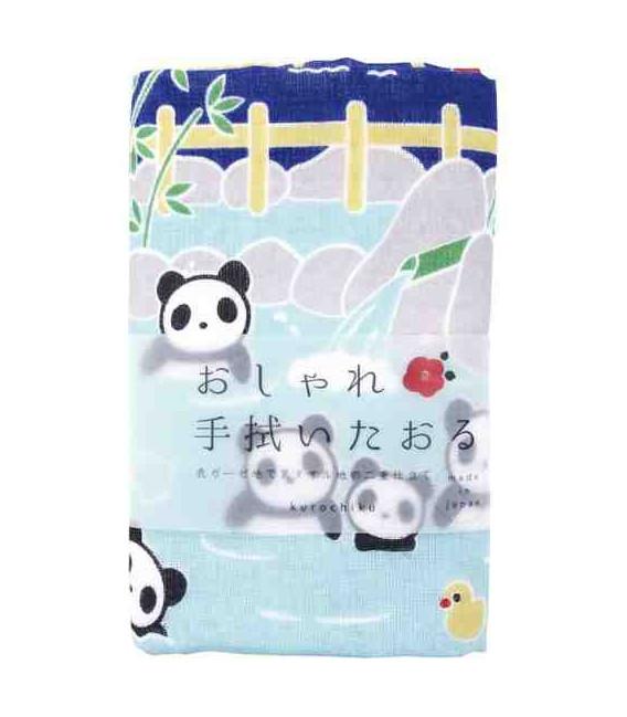 Toalla japonesa tenugui Kurochiku (Kyoto)- Modelo Panda