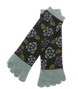 Chaussettes pour femme à cinq doigts - Kurochiku (Kyoto) - Modèle Bara (Taille unique 23-25 cm)