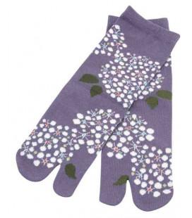 """Chaussettes pour femme """"Tabi"""" à deux doigts - Kurochiku (Kyoto) - Modèle Kodemari (Taille unique 23-25 cm)"""