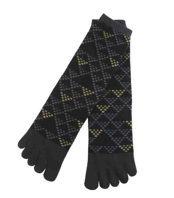 "Calcetines de hombre de ""cinco dedos"" - Kurochiku (Kyoto)- Modelo Uroko (talla única 25-27 cm)"