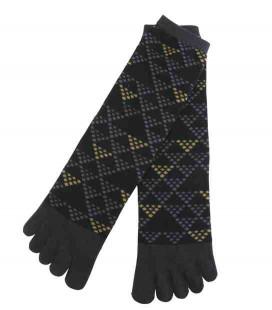 Chaussettes pour homme à cinq doigts - Kurochiku (Kyoto) - Modèle Uroko (Taille unique 25-27 cm)