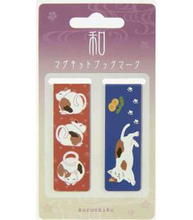 Marque-pages magnétique Kurochiku (Kyoto) - Modèle Chats