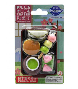 Iwako Puzzle Eraser - Japanese Sweet - (Mini-gommes figurines) Made in Japan