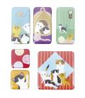 Kurochiku - Pack de 6 aimants décoratifs japonais - Oyakoneko