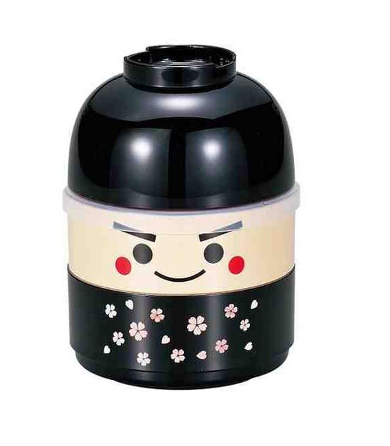 Hakoya Kokeshi Bento - Taille M - Modèle 50616-7 - Ichiro (Noir)
