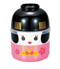 Hakoya Kokeshi Bento - Taille M - Modèle 50642-6 - Maiko (rose)