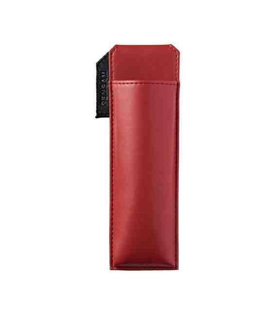Porte stylos magnétique japonais en cuir - Modèle Pensam 2001 (Red) - Couleur rouge