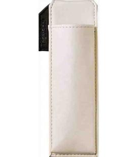 Porte stylos magnétique japonais en cuir - Modèle Pensam 2001 (White) - Couleur Blanche