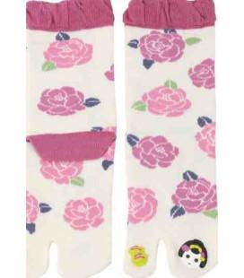 """Chaussettes pour femme """"Tabi"""" à deux doigts - Kurochiku (Kyoto) - Modèle Maiko (Taille unique 23-25 cm)"""