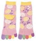 Chaussettes pour femme à cinq doigts - Kurochiku (Kyoto) - Modèle Hana (Taille unique 23-25 cm)