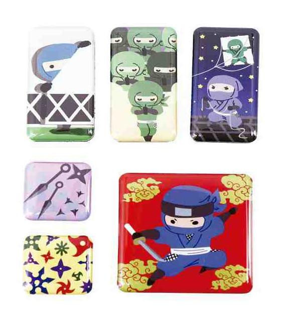 Kurochiku - Pack de 6 aimants décoratifs japonais - - Ninja