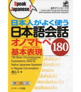 180 Basic Onomatopoeia Expressions Used by Native Japanese Speakers in Conversation (Incluye CD)