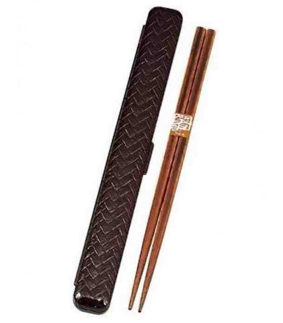 baguettes avec étui - Modèle 33052 - Set Tamari (Marron)