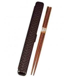Palillos con estuche - Modelo 33052 - Set Tamari (Marron)