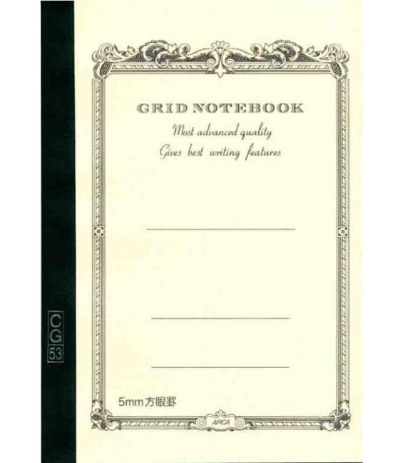 Apica CG53-WH Notebook (Format A5 - Couleur blanche - carreaux - 52 Pages)