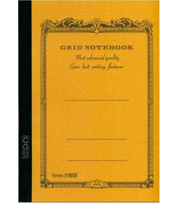 Apica CG53-BY Notebook (Format A5 - Couleur jaune - Carreaux - 52 pages)