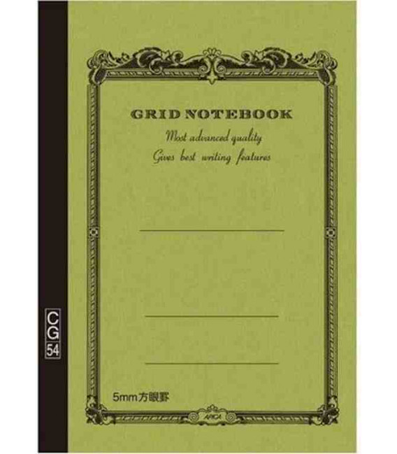 Apica CG54 - Notebook (Format B6 - Vert kaki - carreaux - 104 pages)