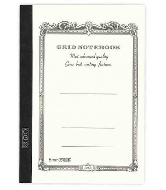 Apica CG54 - Notebook (Format B6 - Couleur blanche - carreaux - 104 pages)
