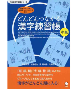 Dondon tsunagaru kanji renshu-cho chukyu - Connecting with Kanji: A Workbook for Intermediate level