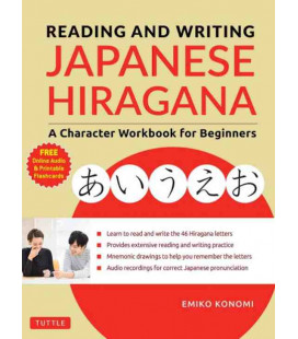 Reading and Writing Japanese Hiragana - A Character Workbook for Beginners (Incl. Audio/MP3 à télécharger)