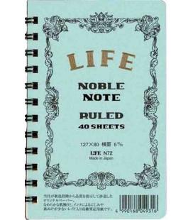 Life Noble Note - N72 (Format 127x80mm - bleu clair - Ligné - 40 pages)