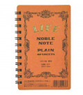 Life Noble Note - N71 (Format 127x80mm - couleur marron - feuille blanche - 40 pages)