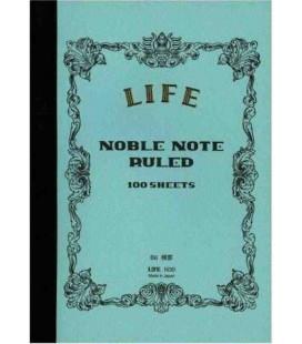 Life Noble Memo - N30 (Format B6 - bleu clair - Ligné - 100 pages)