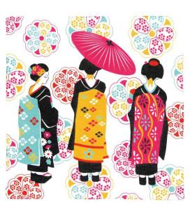 Bandana Japonais Kurochiku - Modèle Maiko