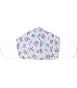 Masque japonais Lavable - Cool Mask - Motif fleurs roses