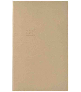 Jibun Techo Kokuyo - Agenda 2021 - Lite Mini Diary - B6 Slim - Color Beige
