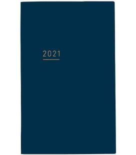 Jibun Techo Kokuyo - Agenda Semainier 2021 - Lite Mini Diary - B6 Slim - Bleu marine
