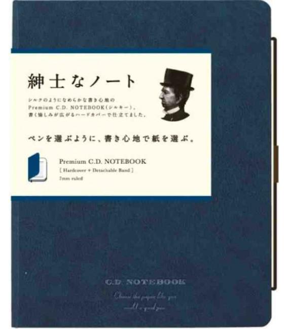 Apica Premium C.D. Notebook - Hardcover - Format A5 - Bleu marine - Ligné - 96 pages