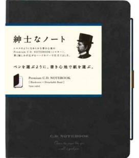 Apica Premium C.D. Notebook - Hardcover - Format A5 - Couleur noire - Ligné - 96 pages