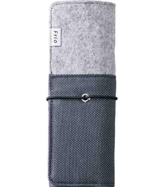 Trousse pliable japonaise - Modèle Frio 8401 (Blue) - Couleur gris et bleu