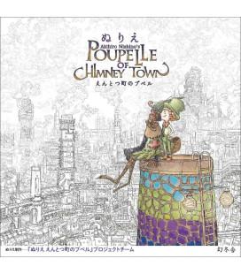 Akihiro Nishino's Poupe Lle of Chimney Town - Livre de coloriage