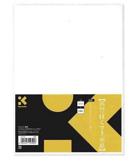 Papier de calligraphie Kuretake - Modèle LA17-2 (Qualité initiation)- 20 feuilles- Papier épais