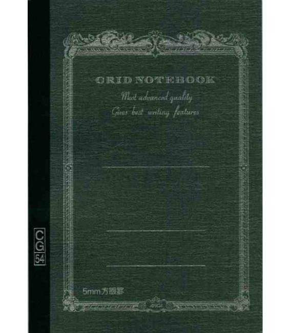 Apica CG54 - Notebook (Format B6 - Couleur noire - carreaux - 104 pages)