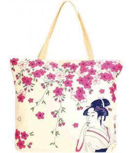 Sac en toile japonais Kurochiku - Modèle Hana Bijin 3 - 100% polyester