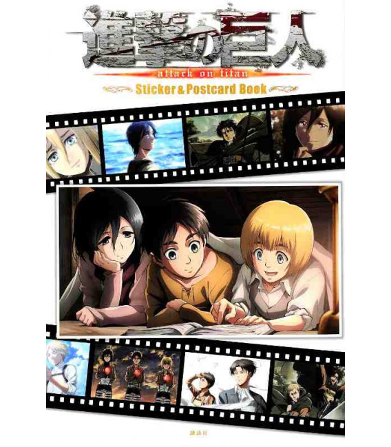 Shingeki no Kyojin (L'Attaque des Titans) Sticker & Postcard Book