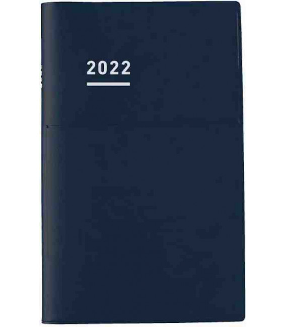 Jibun Techo Kokuyo - Agenda Semainier 2022 - Biz Diary - A5 Slim - Bleu marine