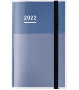 Jibun Techo Kokuyo - Agenda Semainier 2022 - Diary + Life + Idea set - A5 Slim - Bleu marine