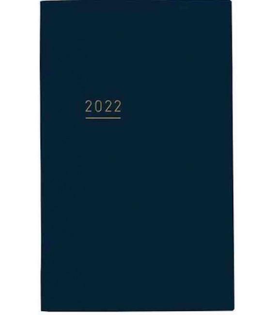 Jibun Techo Kokuyo - Agenda Semainier 2022 - Lite Mini Diary - B6 Slim - Bleu marine